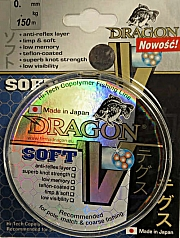 ŻYŁKA  DRAGON   V  SOFT   150 m     0,25  mm